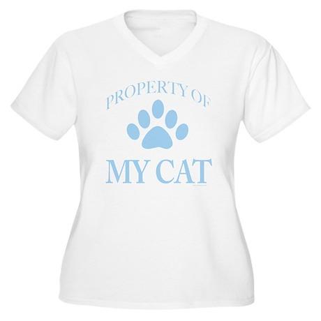 PropTransLtBlue Women's Plus Size V-Neck T-Shirt