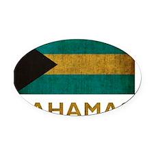 Bahamas7Bk Oval Car Magnet