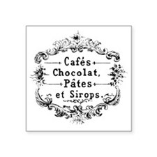 "Chocolat Square Sticker 3"" x 3"""