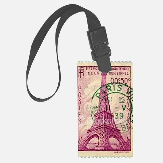 Vintage Stamp Large Luggage Tag