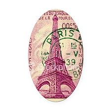 Vintage Stamp Oval Car Magnet