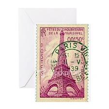 Vintage Stamp Greeting Card