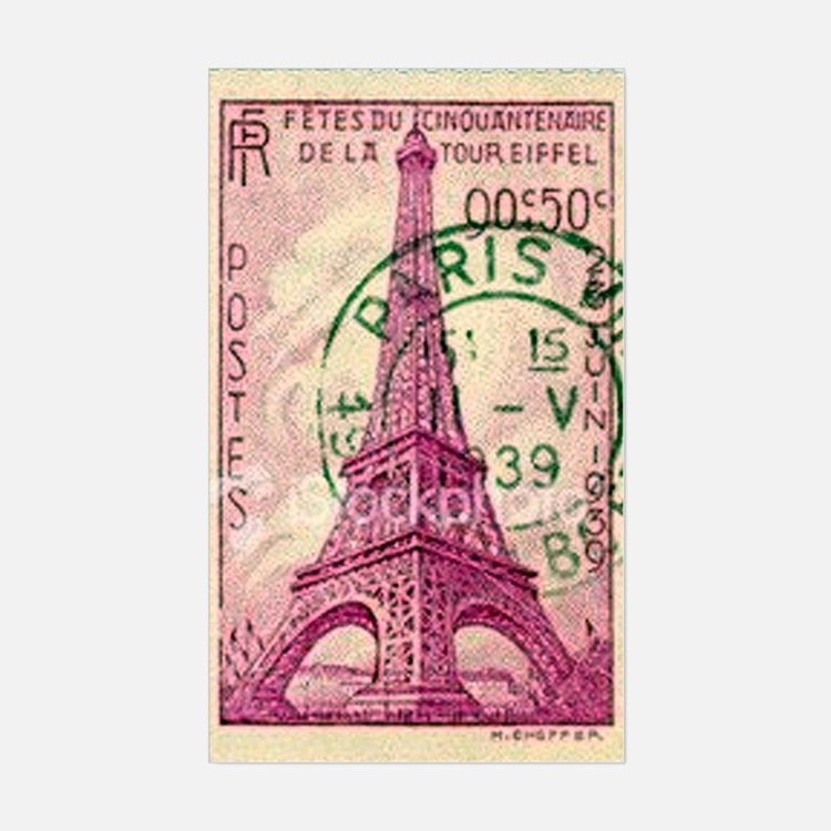 Vintage Stamp Decal