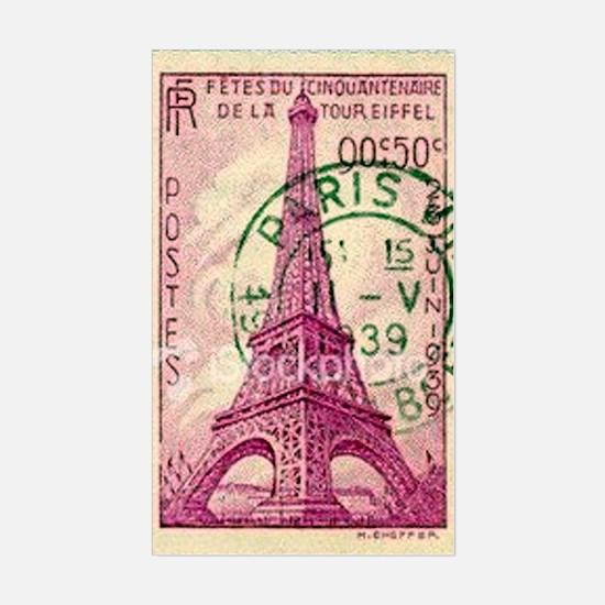Vintage Stamp Sticker (Rectangle)