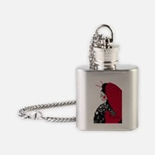 geishashowercurtain Flask Necklace