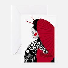 geishashowercurtain Greeting Card
