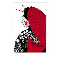 geishashowercurtain Postcards (Package of 8)