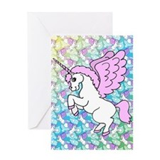 patternunicorns4CAFEPRESS2 Greeting Card
