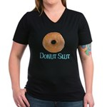 Donut Slut Women's V-Neck Dark T-Shirt