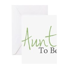 Aunt To Be (Green Script) Greeting Cards (Package