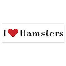 Hamster Bumper Sticker: I love hamsters