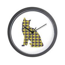 Snowshoe With Fishes Wall Clock