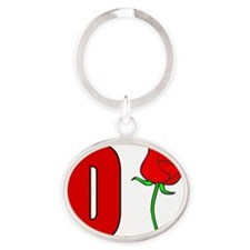 Rose Oval Keychain