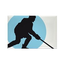 Eishockey player 2c Rectangle Magnet