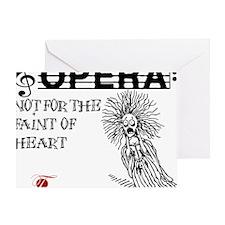 opera-faint-of-heart Greeting Card