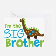 DinosaurImTheBigBrother Greeting Card