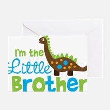 DinosaurImTheLittleBrother Greeting Card