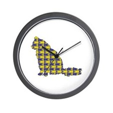Angora With Fishes Wall Clock