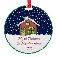 2015 My 1St Christmas Cute Cottage Ornament