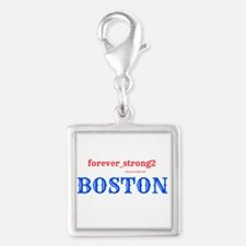 Boston Forever Strong Silver Square Charm
