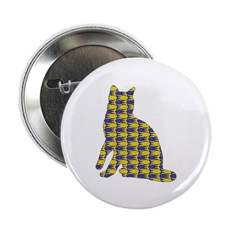 """Bengal With Fishes 2.25"""" Button (100 pack)"""