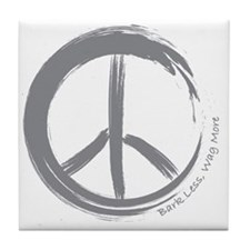 PEACE Wag final Tile Coaster