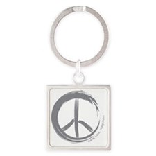 PEACE Wag final Square Keychain