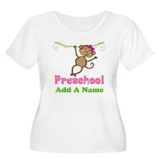 Personalized Preschool Plus Size T-Shirt