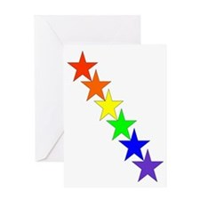 stars in a row Greeting Card
