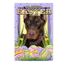 EasterEggCookiesDoberman Postcards (Package of 8)