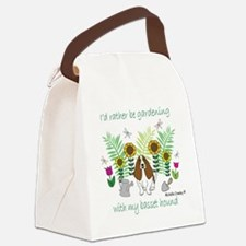 BassetHound Canvas Lunch Bag