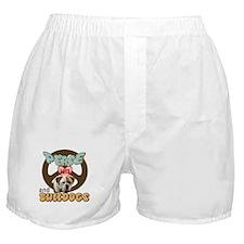 PEACE LOVE and BULLDOGS Boxer Shorts