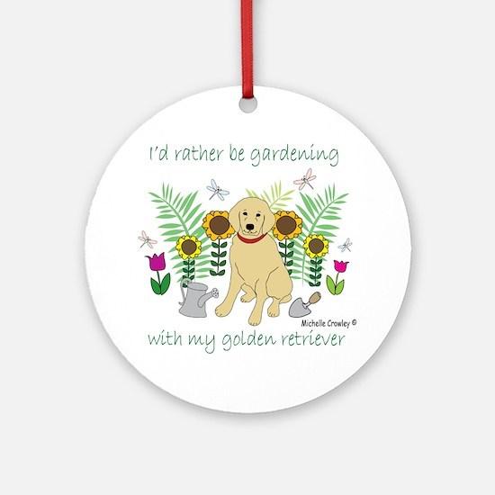 GoldenRetriever Round Ornament