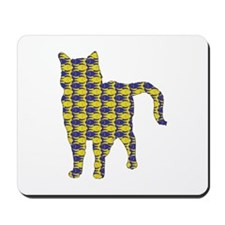 Chartreux With Fishes Mousepad