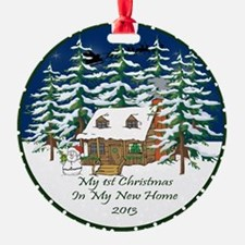 2013 My 1St Christmas Cute Cabin Ornament