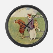golfart7100 Large Wall Clock