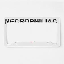 necrophiliac License Plate Holder