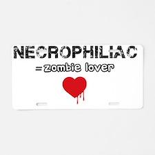 necrophiliac Aluminum License Plate