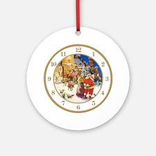 CLOCK A Christmas Eve Gold Round Ornament