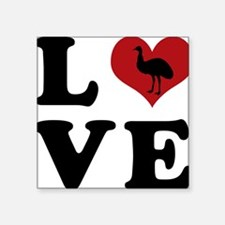 "LOVE-emu Square Sticker 3"" x 3"""