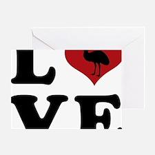 LOVE-emu Greeting Card