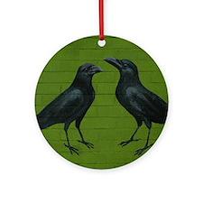CrowsGreenBricks Round Ornament