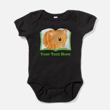 Personalized Book Lover Cat Baby Bodysuit