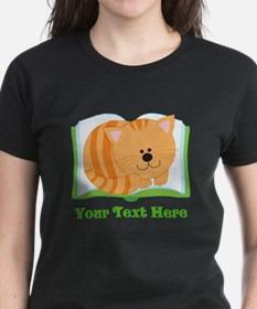 Personalized Book Lover Cat T-Shirt