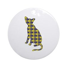 Havana With Fishes Ornament (Round)