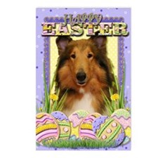 EasterEggCookiesCollieNat Postcards (Package of 8)