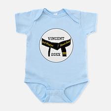 Martial Arts 2nd Degree Black Belt Infant Bodysuit
