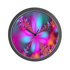 fractal-flowers2-showercurtain Wall Clock