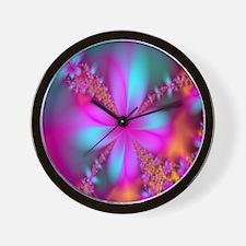 fractal-flowers2-showercurtain Wall Clock