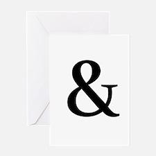 Black Ampersand Greeting Cards